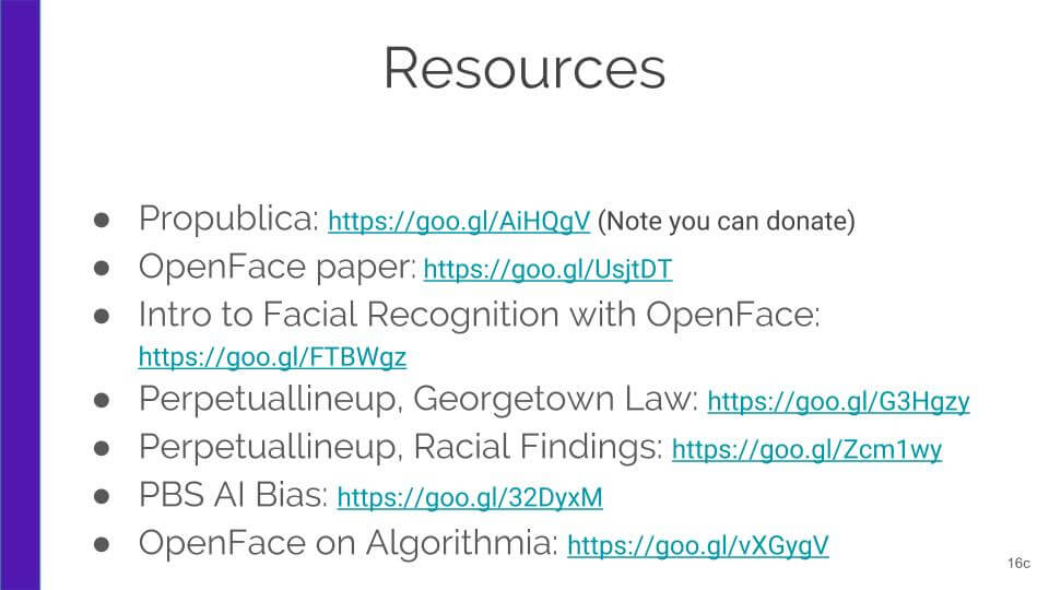 Resources for talk