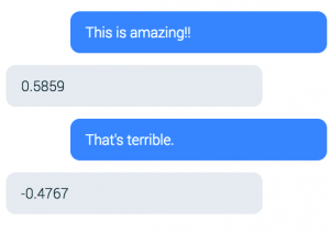 chatbot sentiment results