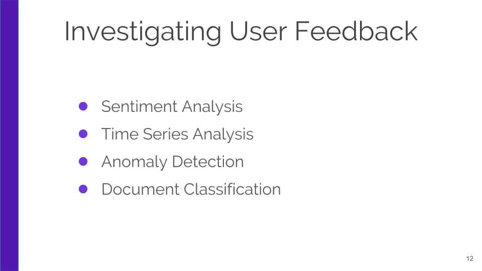 Investigating User Experience with Natural Language Analysis